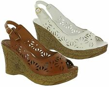 Ladies Womens New Ankle Strap High Wedge Heel Espadrille Sandals Shoes Size 3-8