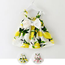 Cute Toddler Baby Girl Floral Princess Strap Dress Party Summer Holiday Dresses