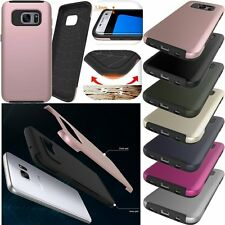 Hybrid Slim Armor Protective Shockproof Plain Case Skin Cover For Samsung Galaxy