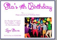 personalised photo paper card party invites invitations ONE DIRECTION