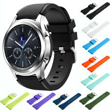 Replacement Silicone Watch Band Wrist Strap w/Buckle for Samsung Galaxy Gear S3