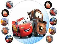 7 inch lighting mcqueen Cake and 10 cup cake topper on Edible Rice Paper