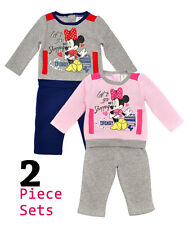 Disney Minnie Mouse Baby Girls Tracksuit 2 Piece Outfit Jogging Set Warm Winter
