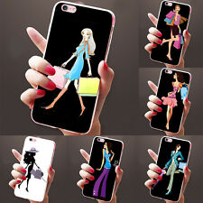 FASHION SHOPPING GIRL PRINT CASE COVER FOR SAMSUNG GALAXY S7 IPHONE 6 LOVELY