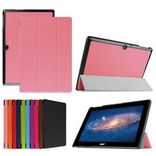 Real Thin Fold PU Leather Flip Soft Stand Tablet Case Cover For Acer Iconia One