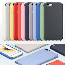 Original Ultra-Thin Silicone/Leather Soft Case Cover For Apple iPhone 5 6 7 Plus