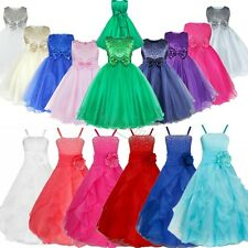 US Pageant Flower Girls Birthday Party Princess Wedding Bridesmaid Formal Dress