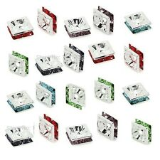 6mm Rhinestone Silver Plated Square Rondelle Beads 20 pcs Various Colours