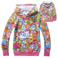 Cute Hoodies Shopkins Coat Cartoon Holiday Costume For Kids Toddlers Girls Gifts