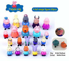 20pcs Peppa Pig Family Friends Action Figure Kitchen Amusement Park Play Set Toy