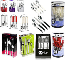 16/24 Piece Cutlery Set Forks Spoons Knives Tea Kitchen Table Utensil Box Set