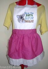 KOALA SAVE EARTH THE CHOCOLATE PLANET APRON Made to Order Most color