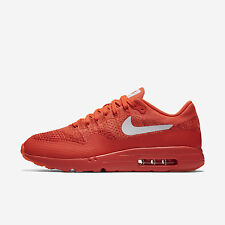 Nike Air Max 1 Ultra Flyknit [843384-601] NSW Running Bright Crimson/White-Red