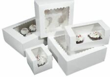 Windowed Cupcake Boxes with Removable Inserts Cake / Fairy / Muffin