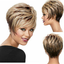 Short pixie Wigs For Black Women Ombre Blonde Dark Brown Wig Short wavy Wig