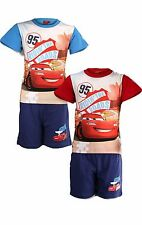 Boys Disney Cars Lighting McQueen Long/Short Pyjamas Nightwear PJS Age 3-8 Years