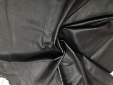 Lambskin Genuine Leather Hide Jet Black 2-3 oz.Buttery Soft Beautiful Hide
