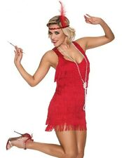 COSTUME CHARLESTON BELLE PERIOD COSTUME CABARET DRESS FRINGED RED FOR WOMAN