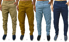 Mens GIO GOI Designer Jeans Drum  Carrot Fit Stylish Chino Trousers
