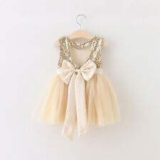 NEW Sequins Bow Party Dress Baby Kid Child Girl Boy
