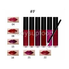 6pcs Waterproof Makeup Lipstick Matte Lip Gloss Long Lasting+12pcs Lip Brush