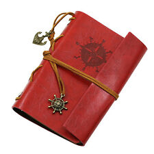 Anchor Faux Leather Cover Notebook Journal Diary Blank String Nautical Sturdy