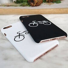Simple Bicycle Painting Hard Frosted back case cover for iphone 5 6 6S 7 plus