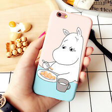 Hard PC Cute hippopotamus Moomin back Case Cover For iPhone 5/5s/6/6s plus new