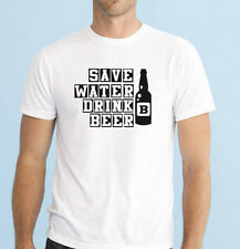 SAVE WATER DRINK BEER stag party men's funny t-shirt size S-XXL Bachelor party
