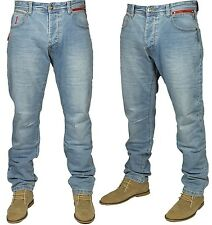 Mens Straight Leg Jeans Light Wash Classic Regular Fit Eto Designer Branded