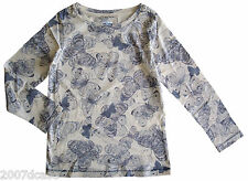 New Ex Next Girls Butterfly Print Top Age 4 5 6 7 9 10 14 Years Cotton T Shirt