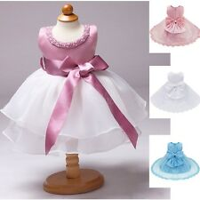 Kids Baby Flower Girl Dress Christening Wedding Party Pageant Gown Bridesmaid
