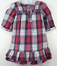 Next Baby Girls Red, Pink & Blue Checked Party Layered Dress Cotton 18-24 Months