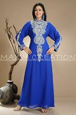 NEW GEORGETTE FANCY BRIDAL NEW ELEGANT CAFTAN ARABIAN ISLAMIC THOBE  DRESS  3840