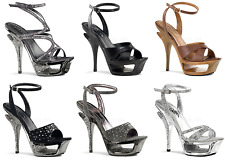 Pleaser Day & Night DELUXE-620RS 630 631RS 637 Cut Out Platform Ankle Strap