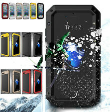 Heavy Duty Armor Shockproof Metal Aluminum Hard Cover Case for iPhone /  Samsung
