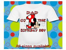 Birthday Boy Mickey Mouse T Shirt All Sizes Mickey Mouse Red Polka T Shirt