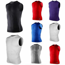 Mens Compression Base Layers Tight Tank Top Shirts Vest Sleeveless Sports Top
