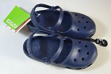 NWT TODDLER GIRL CROCS KARIN NAVY ROOMY FIT CLOG W STRAP SLIP ON SHOES C12 C13