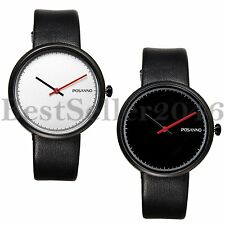 Fashion Casual Watches Men's Ultra Thin Leather Strap Quartz Analog Wrist Watch
