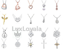 Fashion White Gold Plated Beautiful Silver Crystal Engraving Pendant Necklace