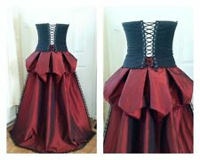 Red Bustle Victorian Steampunk Skirt Overskirt Train purple 12 14 16 18 20 22