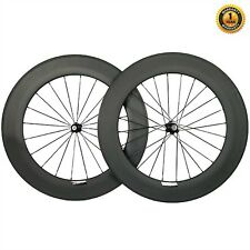 88mm Carbon Wheelset 23mm wide. Clincher/Tubular, Shimano Hub UK SELLER/UK STOCK