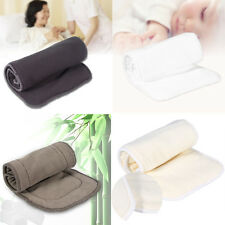 Reusable Bamboo Cloth Washable Diaper Insert Nappy Pad  Liner 3/4/5 Layers JSJS