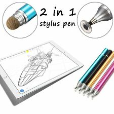Universal 2in1 Fine Point Touch Stylus Pen for Apple iPad iPhone Samsung Tablet