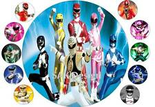 7 inch Power Ranger  Cake and 10 cup cake topper on Edible Rice Paper