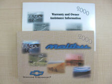 2000 Chevy Malibu Owner's Manual Part # 22619478 B First Edition