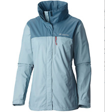 COLUMBIA WOMENS M POURATION HOODED RAIN JACKET WATERPROOF NEW!!