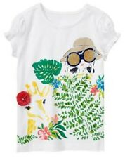 Gymboree Sunny Safari Girl With Binoculars Tee Top Jungle Giraffe NWT 4 5