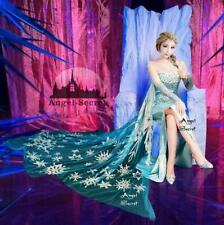BJ888 Movies Frozen Snow Queen Elsa Cosplay Costume top palace dress tailor made